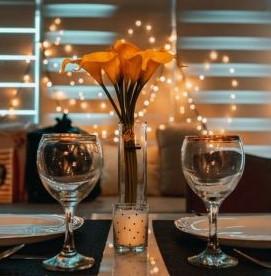 Romantische tafel
