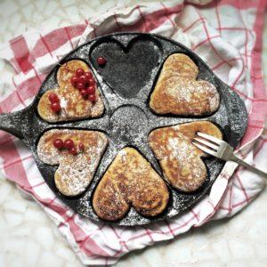 Hart pannenkoeken