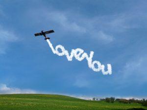 Vliegtuig liefde