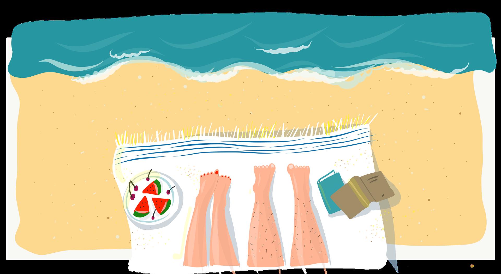Vakantieliefde strand