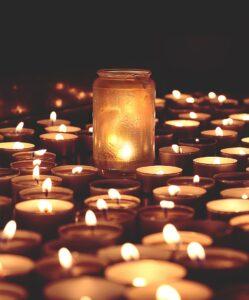 Rouwverwerking kaarsen