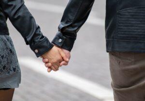 Nieuwe liefde handen